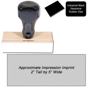 Regular Black Neoprene Rubber Stamp Size 2 x 5