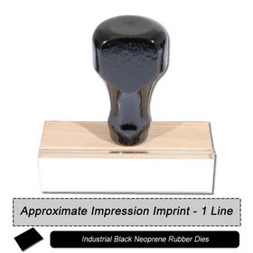 1 Line Black Neoprene Regular Rubber Stamp
