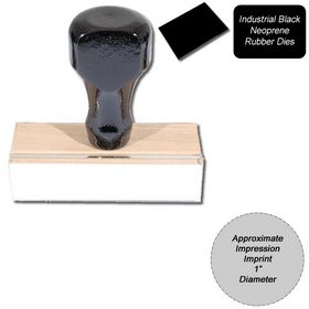 Regular Black Neoprene Rubber Stamp Size 1 Diameter