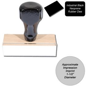 Regular Black Neoprene Rubber Stamp Size 1-1/2 Diameter
