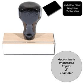 Regular Black Neoprene Rubber Stamp Size 2 Diameter