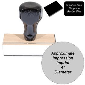 Regular Black Neoprene Rubber Stamp Size 4 Diameter