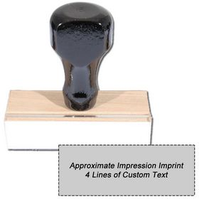 4 Line Regular Rubber Stamp