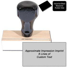 8 Line Black Neoprene Regular Rubber Stamp