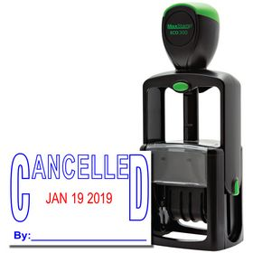 Stock Cancelled Date Stamp