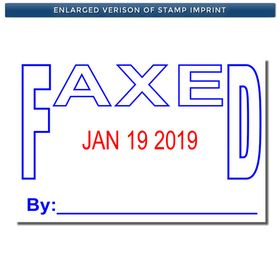 Stock Faxed Date Stamp