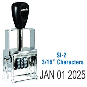 Self Inking Date Stamp 3/16 Characters