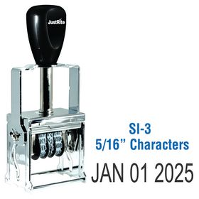 Self Inking Date Stamp 5/16 Characters