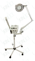 Ozone Steamer with Movable Arm and 5 Times Diopter Magnifying Lamp with High Frequency