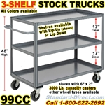 SHELF TRUCKS & WAREHOUSE STOCK TRUCKS 99CC