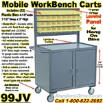 MOBILE BIN WORKBENCH CARTS 99JV