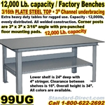 EXTRA HEAVY DUTY WORK BENCHES / 99UG