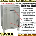 STAINLESS STEEL BENCH CABINETS / 99VXA