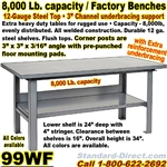 EXTRA HEAVY DUTY WORK BENCHES / 99WF