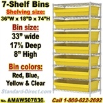 7-Shelf Bin Unit Wire-Shelf / AMAWS07836