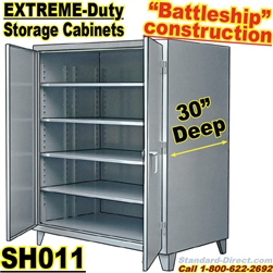 Extreme duty steel 30 inch deep storage cabinets sh011 for 30 inch deep kitchen cabinets