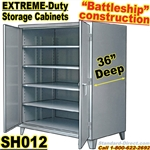 Extreme Duty Steel 36 inch deep Storage Cabinets / SH012