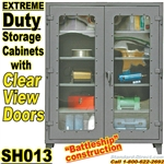 Extreme Duty Clear View Door Storage Cabinets / SH013