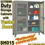 Extreme Duty Vented Door Storage Cabinets / SH015