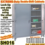 Extreme Duty Double Shift Storage Cabinets / SH016