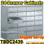 24 Drawer Industrial Parts Cabinets / TBDC2439