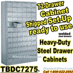 72 Drawer Industrial Parts Cabinets / TBDC7275