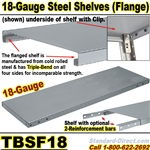 18-GAUGE FLANGED STEEL SHELVES / TBSF18