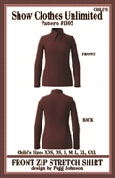 front zip western shirt pattern,  rail shirt pattern, princess seamed shirt pattern, sewing pattern, sew your own show clothes, Show Clothes Unlimited, Pegg Johnson, Show Clothes Unlimited patterns, Show Clothes Unlimited Equestrian Wear patterns