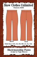 showmanship pant, western pant, show pant, child pant, sewing pattern, sew your own show clothes, Show Clothes Unlimited, Pegg Johnson, Show Clothes Unlimited patterns, Show Clothes Unlimited Equestrian Wear Patterns
