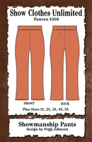 Showmanship pants, western pants, show pants, plus size, sewing pattern, sew your own show clothes, Show Clothes Unlimited, Pegg Johnson, Show Clothes Unlimited patterns, Show Clothes Unlimited Equestrian Wear Patterns