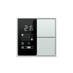 Room temperature controller with LC-display - red/white LED