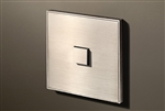 Select 1 Gang KNX Push Button in Nickel with led & temperature sensor