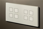 Squares 4,4 Gang KNX Push Button with led & temperature sensor
