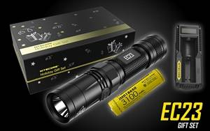 NITECORE EC23 1800 Lumen High Performance Compact Everyday Carry LED Flashlight Gift Set