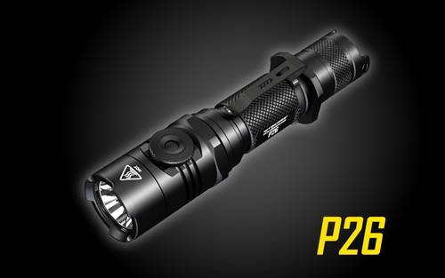 NITECORE P26 Infinitely Variable Brightness Rotary Switch 1000 Lumen Tactical Flashlight