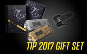 NITECORE TIP 2017 Gift Set Rechargeable 360 Lumens LED Keychain Flashlight in Gold/Grey & Silver/Grey Options