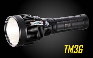 NiteCore TM36 1800 Lumen 1200 Yards Rechargeable Searchlight LED Flashlight w/ Battery Pack