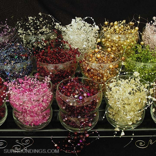 bead garland for centerpieces