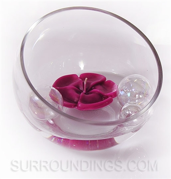 slant glass bubble bowl