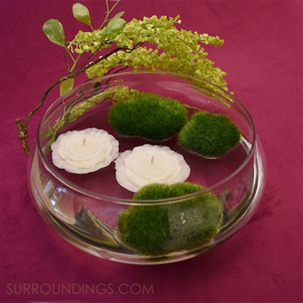 Glass Lotus Centerpiece Bowl