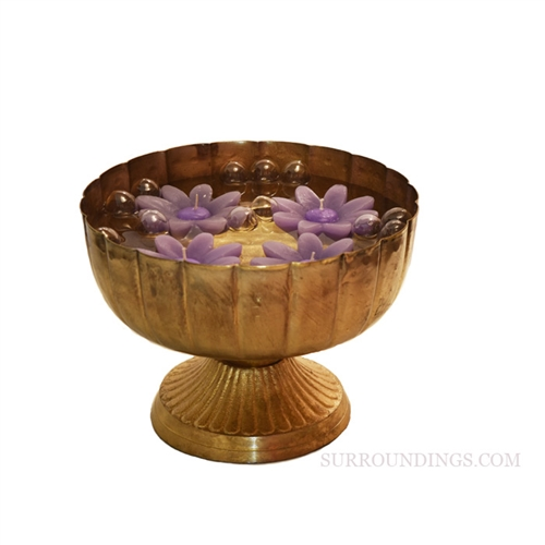 Saundra Gold Metal Bowl