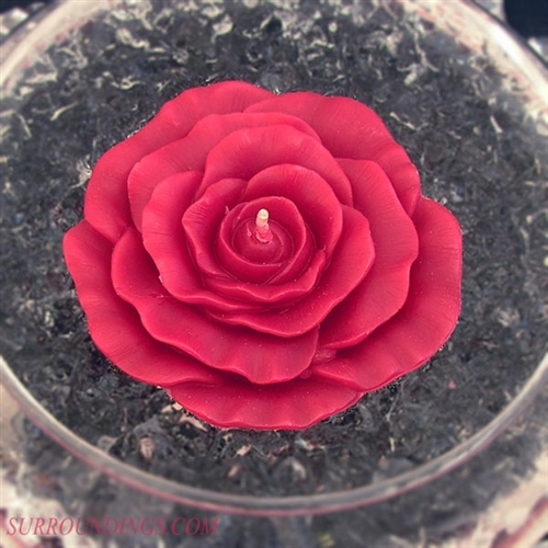 Floating rose candle