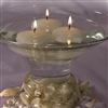 "2"" Glitter shell floating candles"