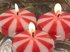 Candy Cane Floating Candles