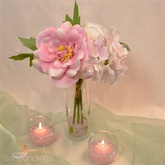 Pretty & Pink Floating Candle Centerpiece