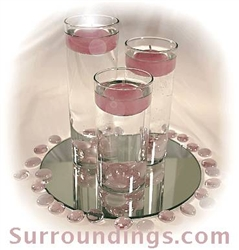 Small cylinder set & gems centerpiece