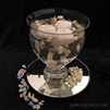 Seashell & hour bowl floating candle centerpiece