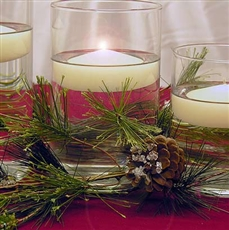 Sugared pine & cylinders centerpiece kit