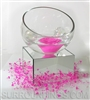 "Rose floating candle centerpiece in slant bowl with glass bubbles, 5"" mirror riser and bead garland"