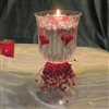 vase & heart candle centerpiece